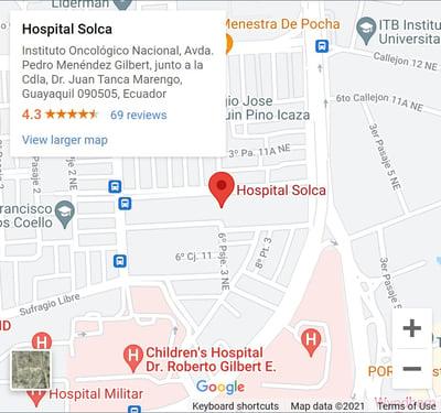 Mapa SOLCA website